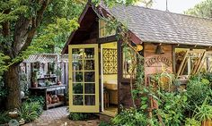 See how a garden designer turned an old toolshed into a place to work, play and be inspired.