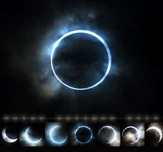 "A great progression of the 2012 ""Ring of Fire"" annular eclipse taken with the Sony NEX-7."