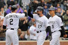 Troy Tulowitzki Wife Carlos Gonzalez | Carlos Gonzalez and Troy Tulowitzki - Los Angeles Dodgers v Colorado ...