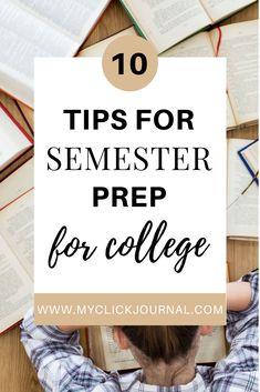 How To Prepare For A Productive Semester | myclickjournal