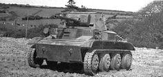 British Light Tank Mk VII Tetrarch Close Support version fitted with 3 inch howitzer