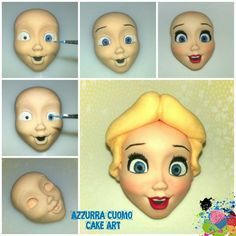 The making of Alice in Wonderland... #1: FACE... - CakesDecor