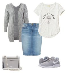 """""""Untitled #303"""" by misslilylou on Polyvore featuring Sans Souci, NIKE, Current/Elliott, Hollister Co. and Rochas"""