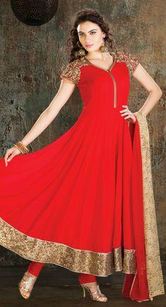 Alluring Salsa Red #Salwar #Kameez