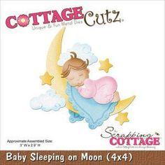 Wykrojnik CottageCutz - Dziewczynka śpiąca na księżycu