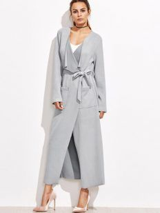 3 ideas on how to wear a grey coat - Tina Chic