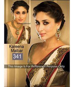 Bollywood Designer Kreena Kapoor Gold Bridal Saree