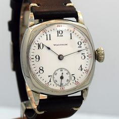 338409f9205 1906 Vintage Waltham Cushion Shape Vintage Watches For Men