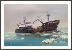 F/v Time Bandit Framed Print By Wayne Enslow Artwork Prints, Framed Prints, Acrylic Paintings, The World's Greatest, Prints For Sale, Great Artists, Sailing Ships, Tapestry, Boat