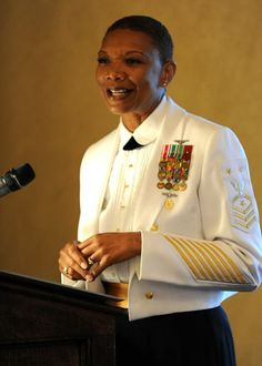 (May 23, 2013) NEWPORT, R.I. Fleet Master Chief April Beldo, Manpower, Personnel, Training and Education Fleet Master Chief, gives her remarks as a guest speaker during U.S. Navy Senior Enlisted Academy (SEA) graduation banquet onboard Naval Station Newport in Newport, R.I.