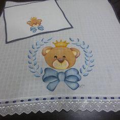 Kit 1 fralda grande + 1 fraldinha de boca  Whatsapp: (11) 97575-6781  #coroa #príncipe #filho #éme - mimosdade