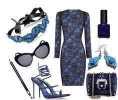Saturday Styleboard - Deep Blue Dame