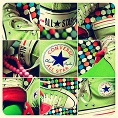 Green Converse my favorite color :) Green Converse, Converse All Star Sneakers, Outfits With Converse, Converse Shoes, Nike Free Shoes, Nike Shoes Outlet, Jouer Au Basket, Picture Link, Favorite Color