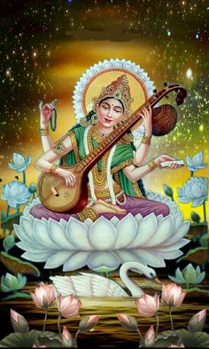 Saraswati devi 456 Divine Goddess, Goddess Lakshmi, Outline Drawings, Art Drawings Sketches, Indian Gods, Indian Art, Saraswathi Devi, Saraswati Painting, Indian Traditional Paintings