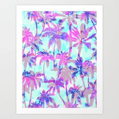 Buy Maui Palm {Pink} by Schatzi Brown as a high quality Art Print. Worldwide shipping available at Society6.com. Just one of millions of products…
