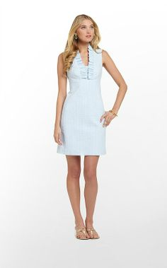 Adeline Dress in Flutter Blue Lucky Seersucker $198 (w/o 3/16/13) #lillypulitzer #fashion #style
