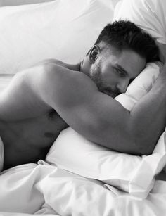 Pillow Tweets - Joe Manganiello photographed by Mert Alas and Marcus Piggott; W Magazine March 2014.