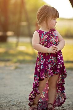 Harmony's Top, Dress, High Low & Maxi. PDF Sewing Patterns For Girls Sizes 2T-12