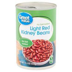 Great Value No Salt Added Light Red Kidney Beans, oz No Sodium Foods, Fruit Cups, Kidney Beans, Green Beans, Dog Food Recipes, Walmart, Salt, Nutrition, Healthy