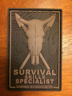 Tac-Men: Survival Skills Specialist patch. Cool little topo map design underneath.