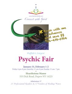 """Connect with Spirit"" I will be at the Psychic fair Jan 31- Feb 3…come and get your 2014 Medium messages. www.KathleenBoldt.com"