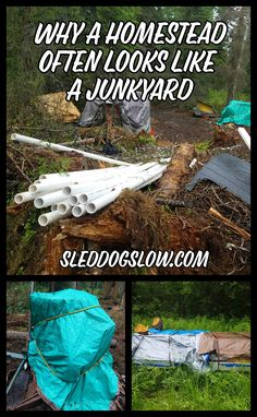 Composting Hacks Why A Homestead Often Looks Like A Junkyard - Homesteads often have piles of stuff everywhere, giving off a junkyard vibe. But I promise there is a reason for the madness! Alaska Homestead, Future Farms, Mini Farm, Living Off The Land, Urban Homesteading, Backyard Farming, Homestead Survival, Hobby Farms, Small Farm