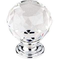 Share with your friends and get $10 off your order! Top Knobs - Clear Crystal Knob w Polished Chrome Base (TKTK126PC)