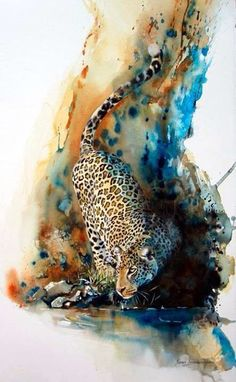 Panter aquarel