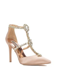 Badgley Mischka Deker T-Strap Evening Shoe, now available at the official website. Free shipping, returns and exchanges.
