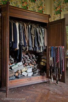 abandoned Castle in Belgium chateau foret | Chateau La Foret (B) glad to know closets of the ages are as disorganized as mine