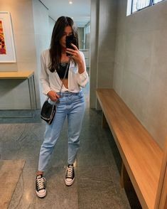 Girl Black And White Fashion .Girl Black And White Fashion Cute Casual Outfits, New Outfits, Fashion Outfits, Boho Fashion, Vintage Fashion, Mens Fashion, Fashion Tips, Looks Style, Casual Looks