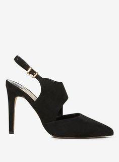 066fad6960d Wide Fit Black MF Geometric Court Shoes