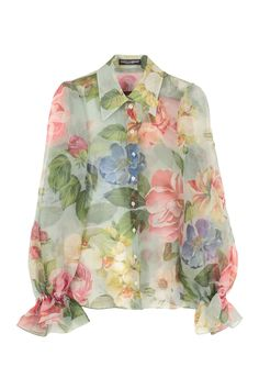 Shop Dolce & Gabbana Floral Print Silk Shirt and save up to EXPRESS international shipping! Moschino, Blouse Styles, Floral Prints, Floral Print Shirt, Fashion Dresses, Street Style, How To Wear, Clothes, Dolce And Gabbana Shirts