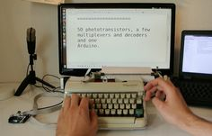 Arduino Blog » Hack an old typewriter with Arduino for digital input