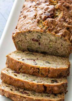 Easy Zucchini Bread, Chocolate Zucchini Bread, Easy Bread, Zucchini Bread Muffins, Zuchinni Bread, Squash Bread, Bran Muffins, Healthy Bread Recipes, Baking Recipes