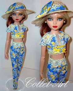 """2013 Ellowyne Wilde Prudence Moody Imperium Park Tonner Wilde Imagination OOAK Fashion Outfit """"You Are My Sunshine"""" by Collet-Art 