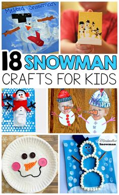 18 Easy Snowman Crafts for Kids To Make - I Heart Arts n Crafts