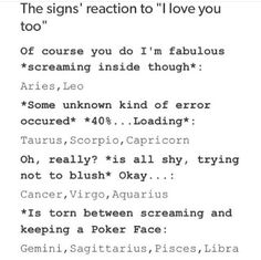 I'm Gemini and this is true but my only question to PJO fans: Is Leo a Dam Leo? No but percys a dam leo Zodiac Sign Traits, Zodiac Signs Astrology, Zodiac Star Signs, Zodiac Horoscope, Horoscope Signs, My Zodiac Sign, Aquarius Zodiac, Le Zodiac, Zodiac Funny