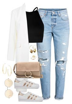 """Untitled #4096"" by magsmccray on Polyvore featuring Boohoo, Alexander Wang, Chloé, adidas, Victoria Beckham, Lana and Bing Bang"