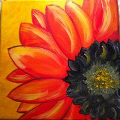 "Erin DuFrane Art on Etsy - Acrylic on Canvas ""Sunflower Burst"""