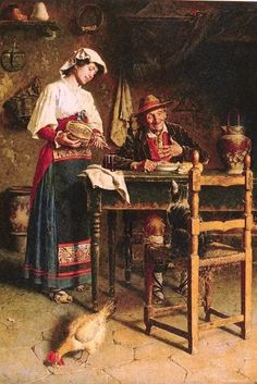 yz- Zampighi, Eugenio (b,1859)- Dinner Guest -2c
