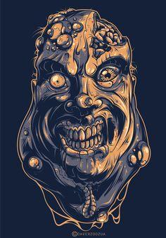 #illustration #ilustracion Fat Zombie by Andrey Krasnov, via Behance