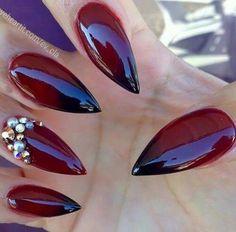Red magic nails