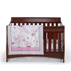 Cuddletime Bella Bunny crib bedding set.