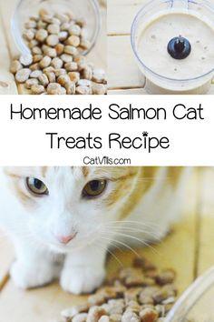 Homemade Salmon Cat Treats Recipe Salmon Cat Cat Treats Cat Treats Homemade