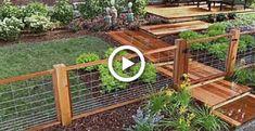 How to Install a Hog Wire Fence - DIY Network backyard design diy ideas Wire And Wood Fence, Hog Wire Fence, Chicken Wire Fence, Pallet Fence, Wood Fences, Bamboo Fence, Fence Gate, Diy Garden Fence, Backyard Fences