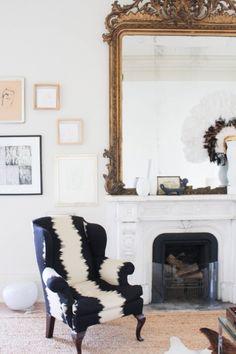 GOLDEN BAROQUE GOLDEN MIRROR FOR LUXURY LIVING ROOMS    Golden baroque mirror with crazy contemporary fabrics   www.bocadolobo.com #mirrorideas