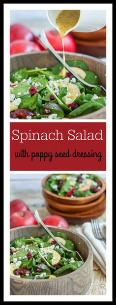This sweet and tangy poppy seed dressing makes this spinach salad sing!