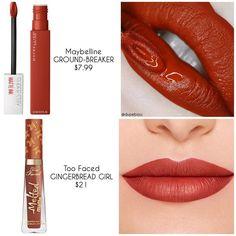 Lipstick Art, Lipstick Dupes, Matte Lipsticks, Lipstick Shades, Brown Lipstick, Maybelline Superstay, Mascara, Eyeliner, Mac Matte