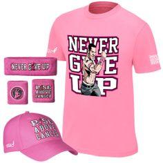 John Cena WWE Breast Cancer gear